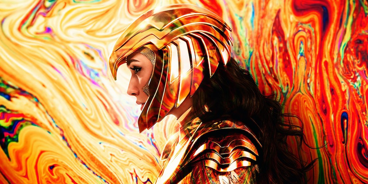 Gal Gadot's Diana wearing golden armor in Wonder Woman 1984