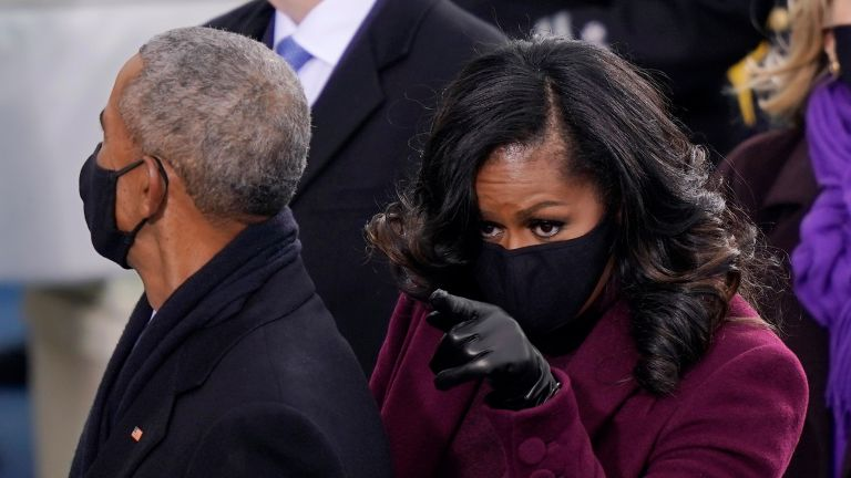 Barack and Michelle Obama at the inauguration of President Joe Biden