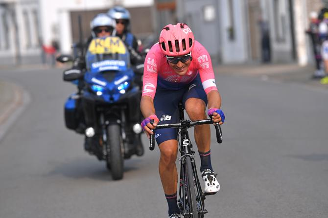 Alberto Bettiol (EF Education First) on his way to a solo victory at Tour of Flanders