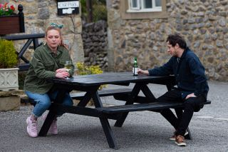 Amy blurts out to Matty that she loves him in Emmerdale