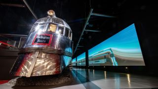 Pioneer Zephyr exhibition at Chicago's Museum of Science and Industry