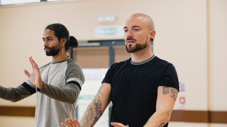 Men doing martial arts exercise to fight depression