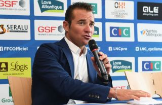 Former pro rider Thomas Voeckler is unveiled as the new French national team manager at a press conference in June 2019