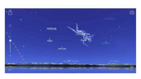 Star Walk 2 review: Image shows constellations in the app.