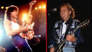 Eddie Van Halen and Mick Jones