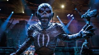 Iron Maiden mascot Eddie on the Book Of Souls tour