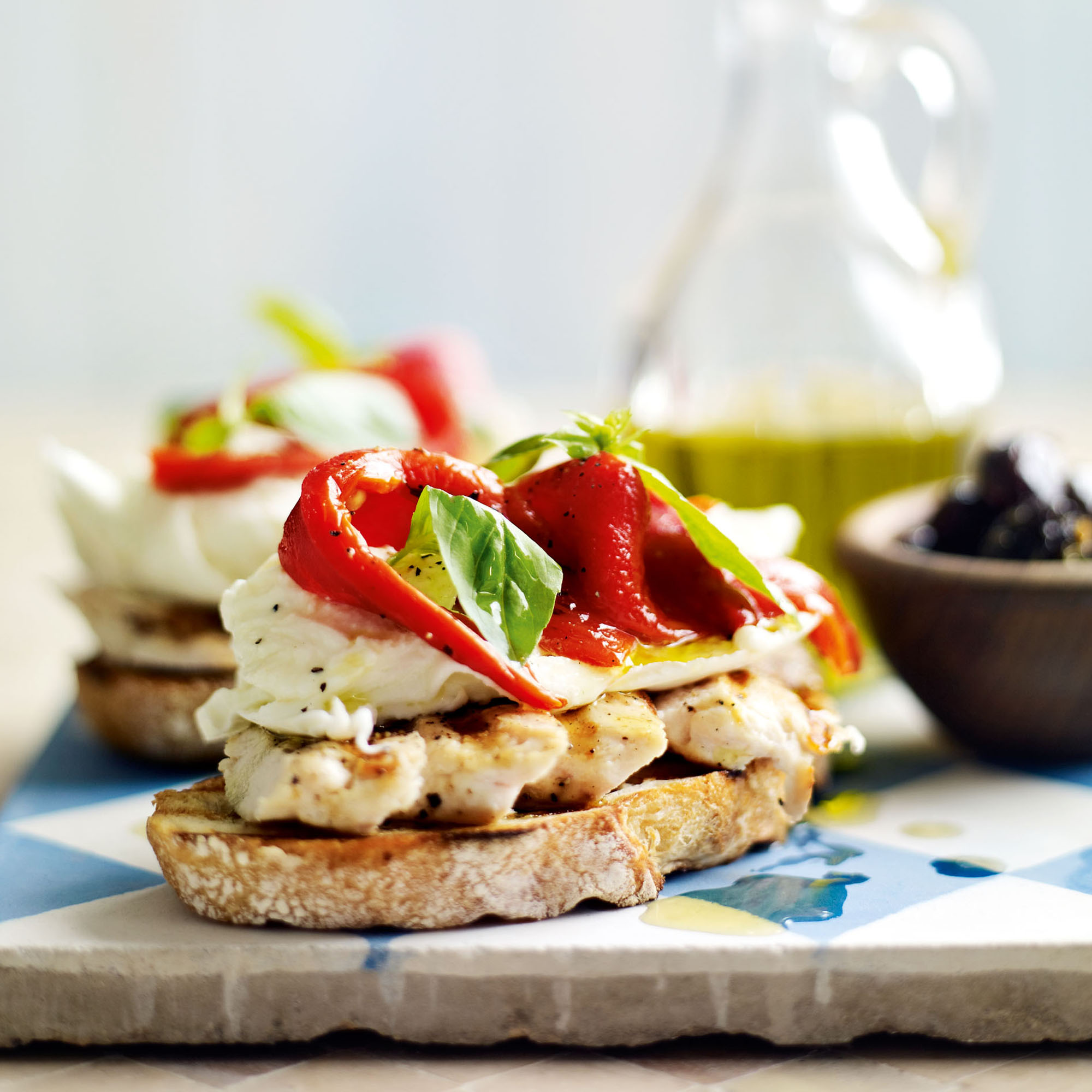 So Simple Mozzarella Open Sandwich Lunch Recipes Woman Home