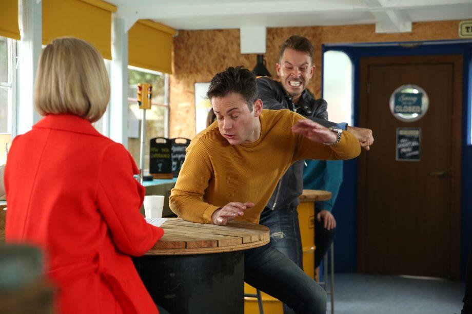 Luke Morgan is punched by Darren Osborne