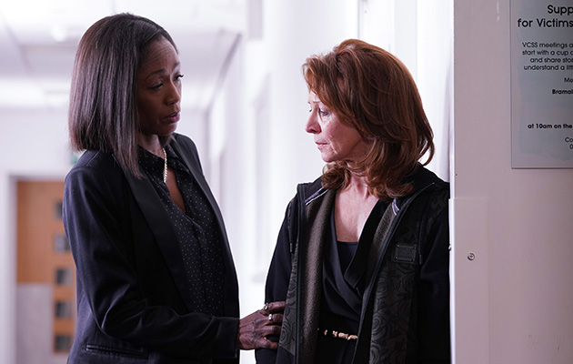 Denise Fox (DIANE PARISH), Carmel Kazemi (BONNIE LANGFORD)