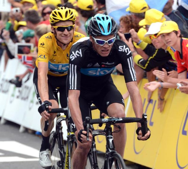 Chris Froome and Bradley Wiggins, Tour de France 2012, stage 17