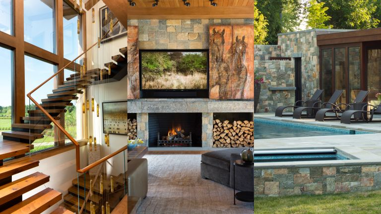 A composite of images from Aqua Terra house tour in Maryland