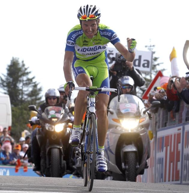 Ivan Basso wins, Giro d'Italia 2010, stage 15