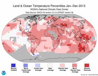 2013 global temperatures