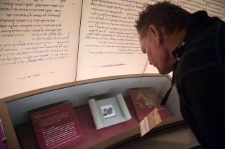 """A """"Dead Sea Scroll"""" fragment on display at the Museum of the Bible in Washington, D.C."""
