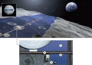 Luna Belt Solar Power Ring Station Artist's Illustration