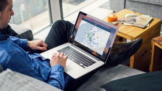 NordVPN on laptop