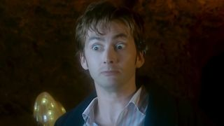 The Doctor looking surprised.