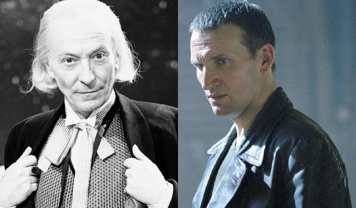 Doctor Who The First Doctor and The Ninth Doctor side by side