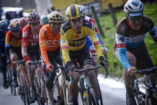 Jumbo-Visma's Wout van Aert rides to 11th place at the 2020 Omloop Het Nieuwsblad
