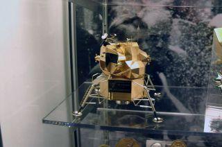 armstrong museum gold lunar module