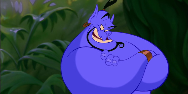 Genie in the animated Aladdin movie