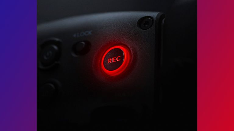 DJI image close up of 'record button'