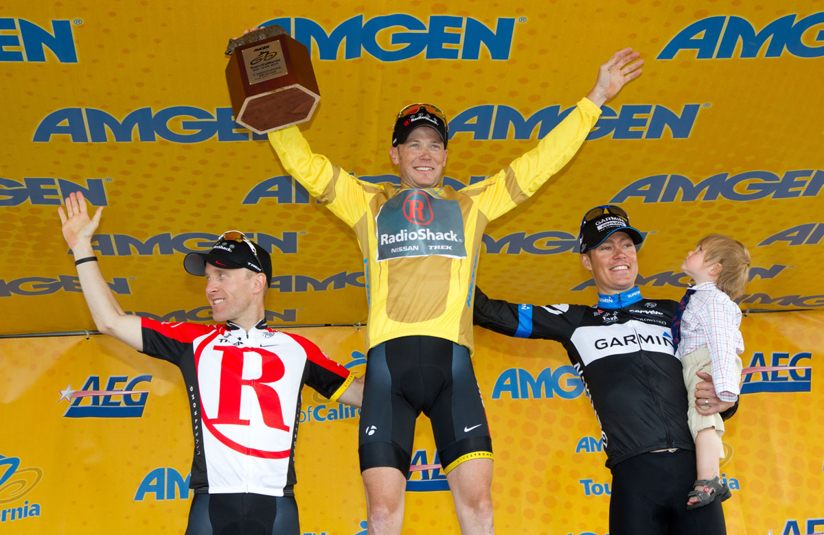 Leipheimer, Horner and Danielson on final podium, Tour of California 2011, stage eight