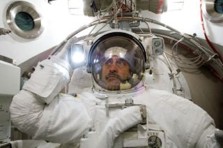 Space Station Astronauts Rehearse Mission's First Spacewalk