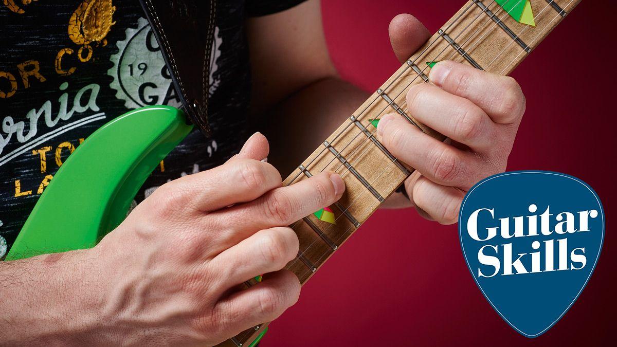 Guitar skills: Create slick guitar solos using tapping and bending