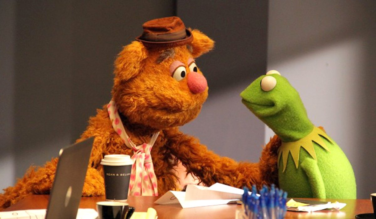The Muppets Fozzie and Kermit