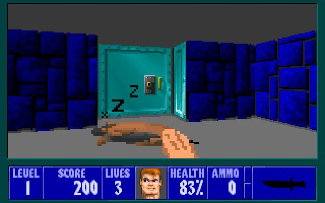 This Wolfenstein 3D mod lets you pat the dogs until they go to sleep