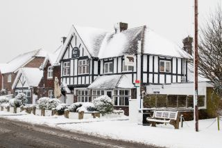 snowfall, cold weather, England