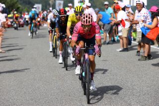 ANDORRELAVIEILLE ANDORRA JULY 11 Rigoberto Urn of Colombia and Team EF Education Nippo during the 108th Tour de France 2021 Stage 15 a 1913km stage from Cret to AndorrelaVieille Col de Beixalis 1796m LeTour TDF2021 on July 11 2021 in AndorrelaVieille Andorra Photo by Tim de WaeleGetty Images