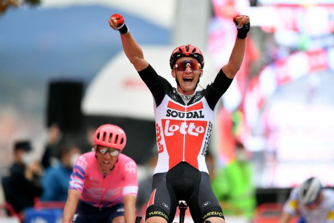 La vittoria di Tim Wellens a Ourense (foto Getty Images)