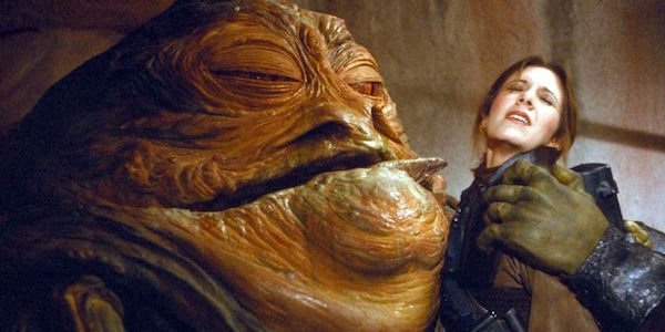 That Time Jabba The Hutt Accidentally Felt Up Carrie Fisher On The Set Of The Return -6889