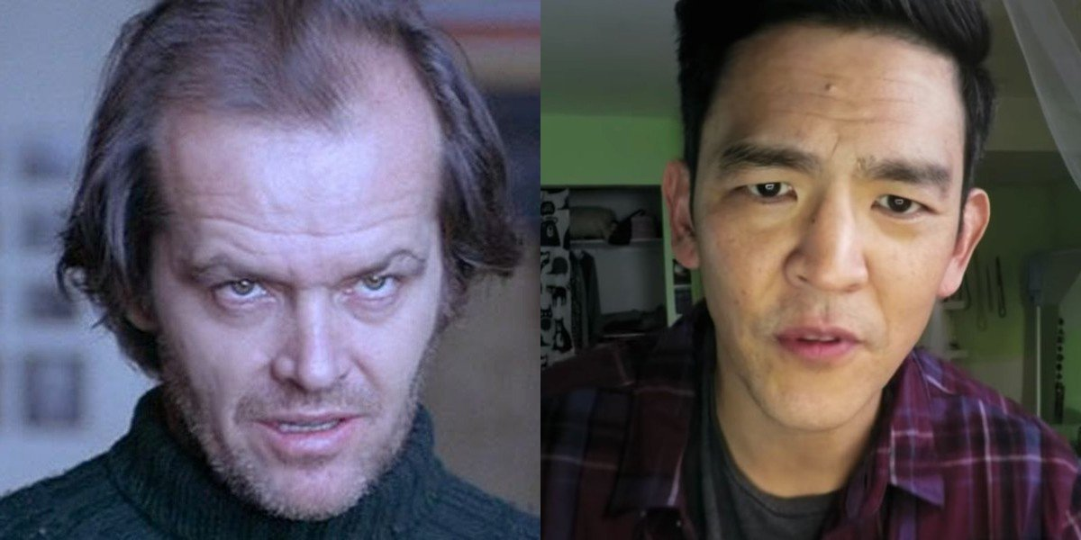 Jack Nicholson on the left, John Cho on the right