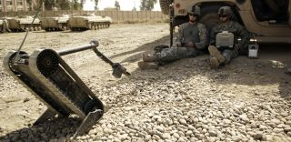 A packbot in Afghanistan