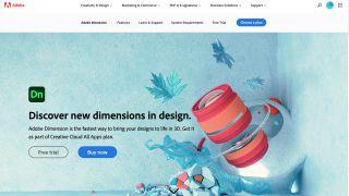 Adobe Dimension Website