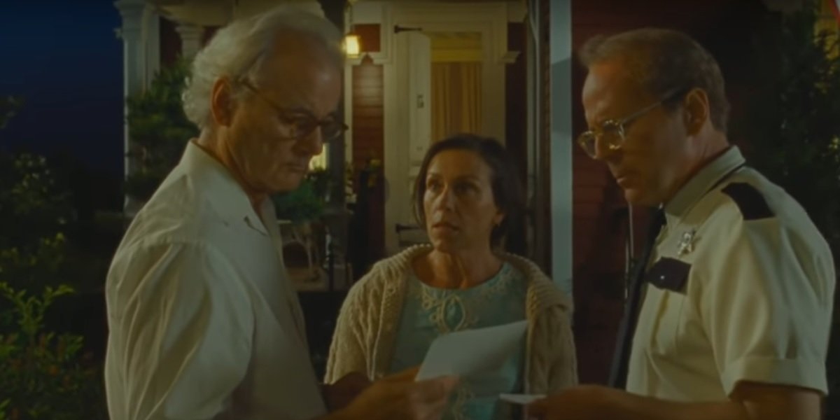 Frances McDormand, Billy Murray, and Bruce Willis in Moonrise Kingdom