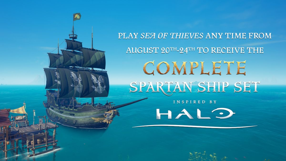Log in to Sea of Thieves for five minutes and get the free Halo-inspired Spartan Ship Set