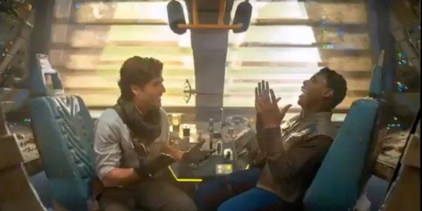 Finn and Poe laughing