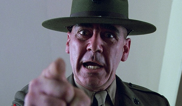 Full Metal Jacket R. Lee Ermey shout and point