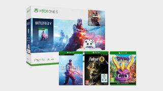 Get an Xbox One S with Battlefield 5 Deluxe Edition, Fallout