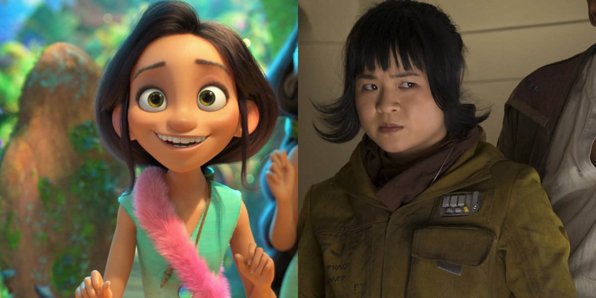 Dawn in The Croods A New Age and Kelly Marie Tran as Rose Tico in Star Wars the Last Jedi