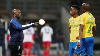 Pitso Mosimane and Themba Zwane