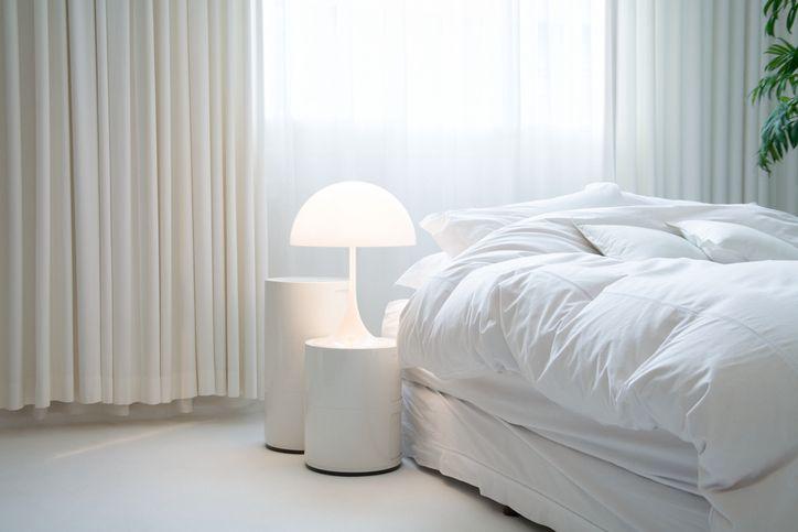 best winter duvet: white bedroom lifestyle image of duvet on bed