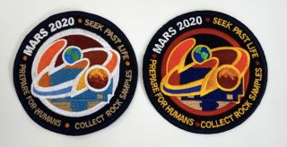 We're giving away two prizes — this Mars 2020 rover Perseverance mission patch and a commemorative rover-landing coin —to one lucky winner.