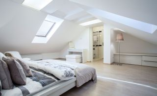 loft bedroom with ensuite and rooflights