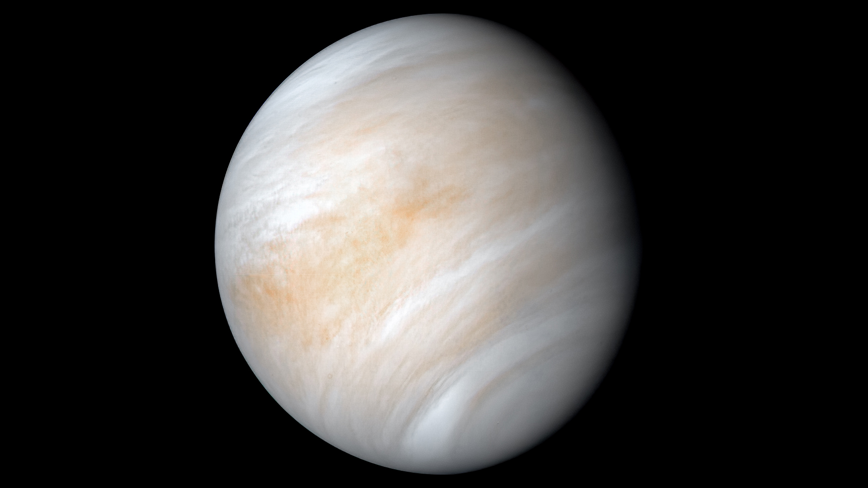 NASA snapped this image of Venus using its Mariner 10 probe during a flyby in 1974.