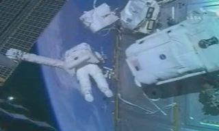 Spacewalkers Prepare Space Station for Module Move